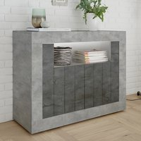 Nitro LED 2 Door Wooden Sideboard In Cement Effect And Oxide