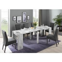 Nitro Large Extending Cement Effect Dining Table 6 Miko Chairs