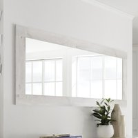 Product photograph showing Nitro Wall Bedroom Mirror In White Pine Wooden Frame