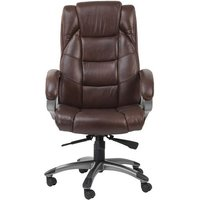 Product photograph showing Nobbler Home And Office Executive Chair In Brown