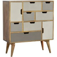 Nobly Wooden Gradient Sideboard In White and Grey