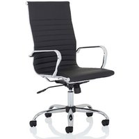 Nola Leather High Back Executive Office Chair In Black