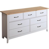 Norfolk Wooden Chest Of Drawers In Pine And Grey With 7 Drawers