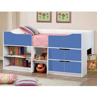 Product photograph showing Nottingham Children Cabin Bed In White And Blue