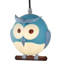 image-Novelty Childrens Owl Pendant In Blue