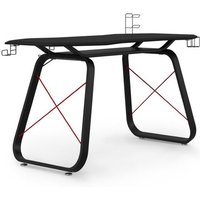 Oblivion Carbon Fibre Effect Gaming Desk In Black And Red