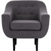 Product photograph showing Odensa Fabric Armchair In Dark Grey