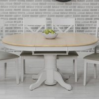 Ohio Extending Round Wooden Dining Table In Oak Veneer