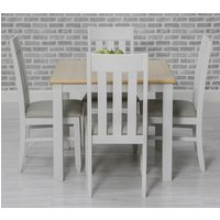 Product photograph showing Ohio Square Dining Set With 4 Padded Slat Back Chairs