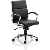 Olney Bonded Leather Office Chair In Black With Medium Back