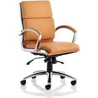 Olney Bonded Leather Office Chair In Tan With Medium Back