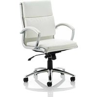 Product photograph showing Olney Bonded Leather Office Chair In White With Medium Back