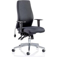 Onyx Ergo Fabric Posture Office Chair In Black With Arms
