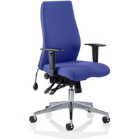 Onyx Office Chair In Stevia Blue With Arms
