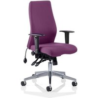 Product photograph showing Onyx Office Chair In Tansy Purple With Arms