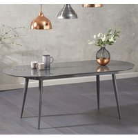 Product photograph showing Opel Extending Wooden Dining Table In Grey High Gloss