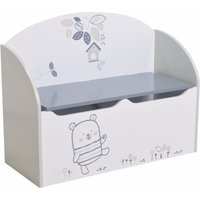 image-Optima Toy Box Cum Blanket Box In White And Grey