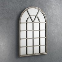 Product photograph showing Opus Window Mirror In Pewter Frame
