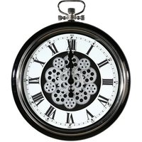 Origin Glass Wall Clock With Black And Silver Metal Frame