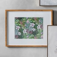 Product photograph showing Orval Hibiscus Floral Design Print Framed Wall Art