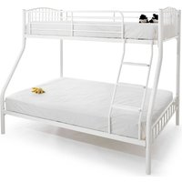 Product photograph showing Oslo Metal Double Bunk Bed In White