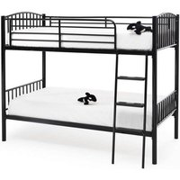 Product photograph showing Oslo Twin Metal Bunk Bed In Black