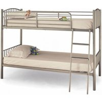 Product photograph showing Oslo Twin Metal Bunk Bed In Silver