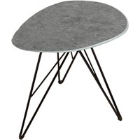 Product photograph showing Ottocav Triangle Lamp Table In Grey Concrete Effect