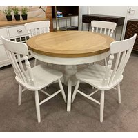 Oxford Round Extending Dining Set With 4 Chairs