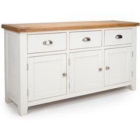 Oxford Wooden Large Sideboard In White And Oak