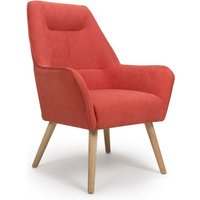Product photograph showing Pacific Chenille Effect Accent Chair In Brick Orange