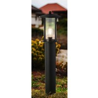 Product photograph showing Pagoda Outdoor Post Light In Black With Clear Glass