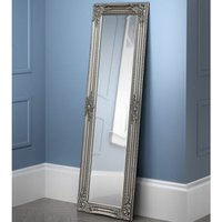 Palais Dressing Mirror In Pewter Wooden Frame