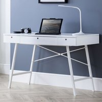 Product photograph showing Palmer Wooden Laptop Desk In White