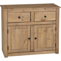 Product photograph showing Panama Wooden 2 Doors 2 Drawers Sideboard In Natural Wax