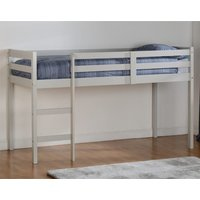 Product photograph showing Panama Wooden Mid Sleeper Bunk Bed In Grey