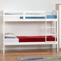 Product photograph showing Panama Wooden Single Bunk Bed In White
