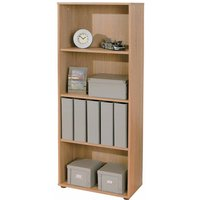 Product photograph showing Parini Wooden Bookcase In Sonoma Oak With 3 Shelves