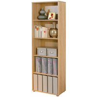 Product photograph showing Parini Wooden Bookcase In Sonoma Oak With 4 Shelves