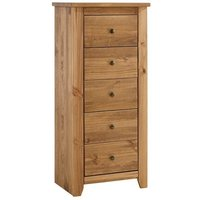 Pascal 5 Chest Of Drawers In Pine Finish