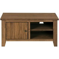 Product photograph showing Pascal Wooden Tv Unit In Pine With 1 Door And Shelve
