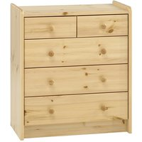 Pathos Wooden Chest Of Drawers In Pine With 5 Drawers