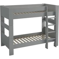 Product photograph showing Pathos Wooden Children Bunk Bed In Grey