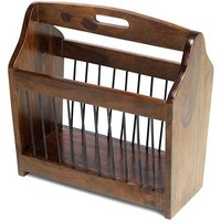 image-Payton Contemporary Wooden Magazine Rack In Sheesham Hardwood