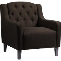 Product photograph showing Pemberley Fabric Upholstered Arm Chair In Brown