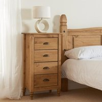Pembroke Narrow Chest Of Drawers In Waxed Pine With 4 Drawers