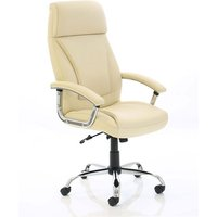 Penza Leather Executive Office Chair In Cream