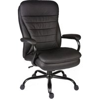 image-Penza Executive Office Chair In Black Bonded Leather