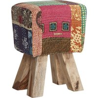 Product photograph showing Phaet Multi Colour Fabric Stool