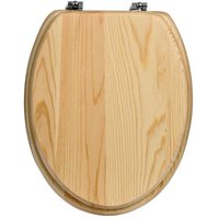Product photograph showing Contemporary Pine Toilet Seat